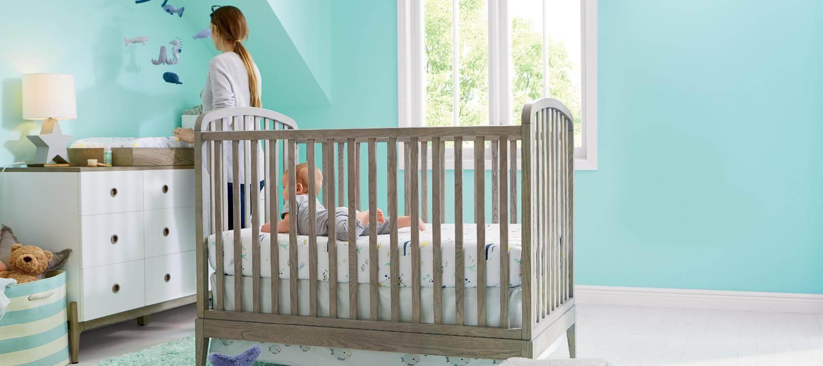 Extra Firm Mini//Portable Crib Mattress Dream On Me 3 in White